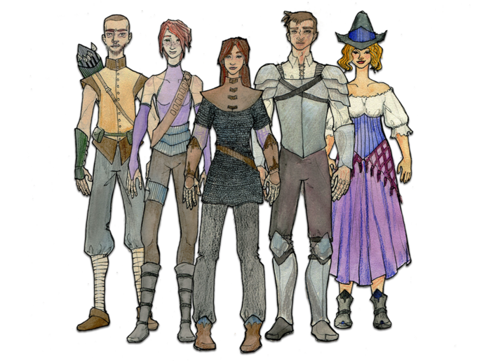 Initial character concept art by Nancy McSwiney.