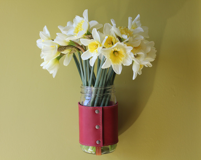 Hang your Chug-A-Lug from a nail with the D-Ring and use it as a vase.