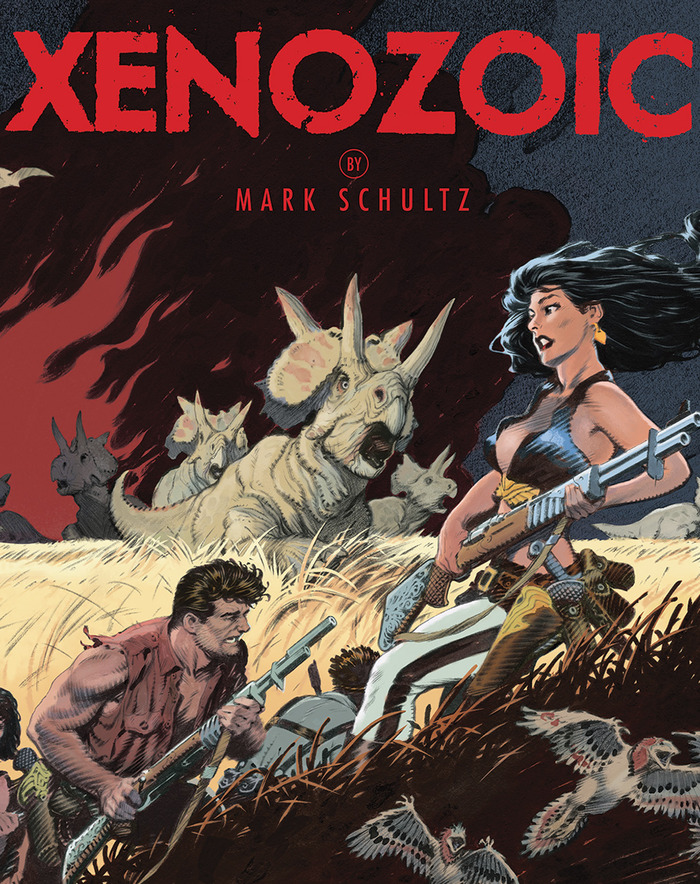 """Xenozoic"" new cover for paperback and hardcover with jacket"