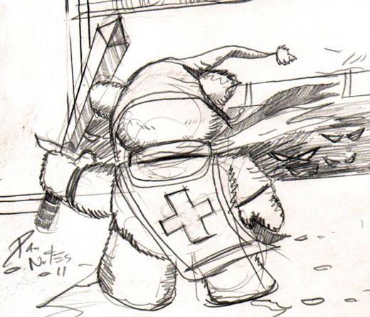 Tristan the Teddy Bear by Dan Nokes