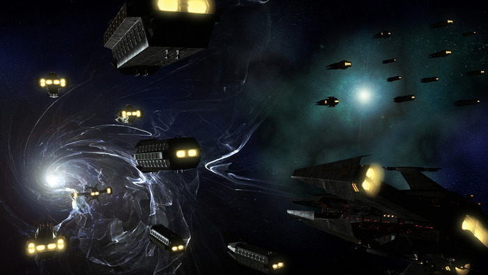 Attack fleets approaching a wormhole