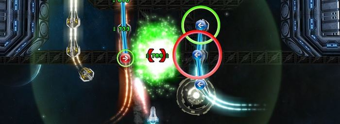 Shmup with a beat, hit the notes to destroy the enemies