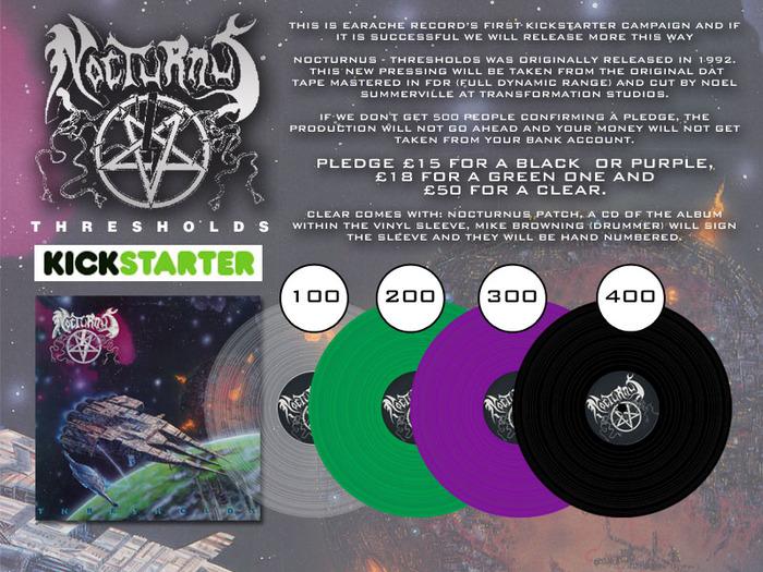 Nocturnus Quot Thresholds Quot 1992 Vinyl Lp Record New Pressing