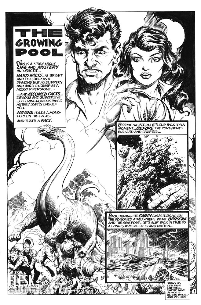"Splash page from ""Xenozoic."""