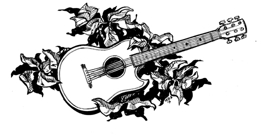The Guitar t-shirt design