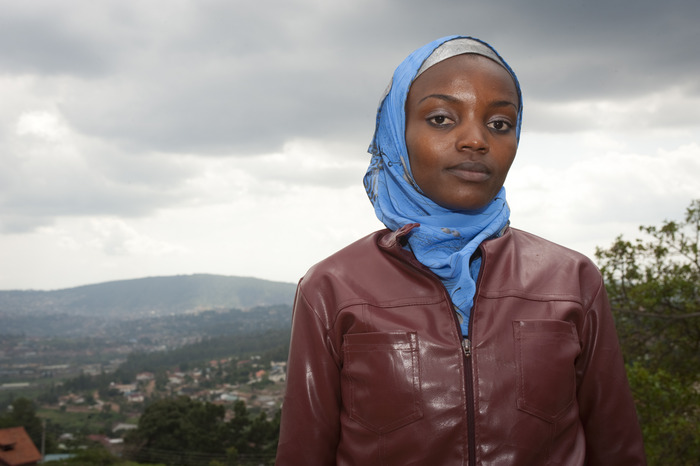 A portrait of GPI reporter Sifa Mukayuhi in Kigali, Rwanda. Photo by Paige Stoyer