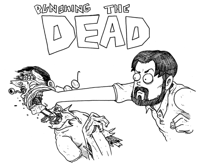 PUNCHING THE DEAD - KS Exclusive T-Shirt Artwork