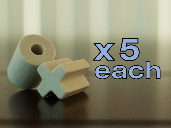 "X's and O's - 1 1/16"" diameter x 1 1/4 length"