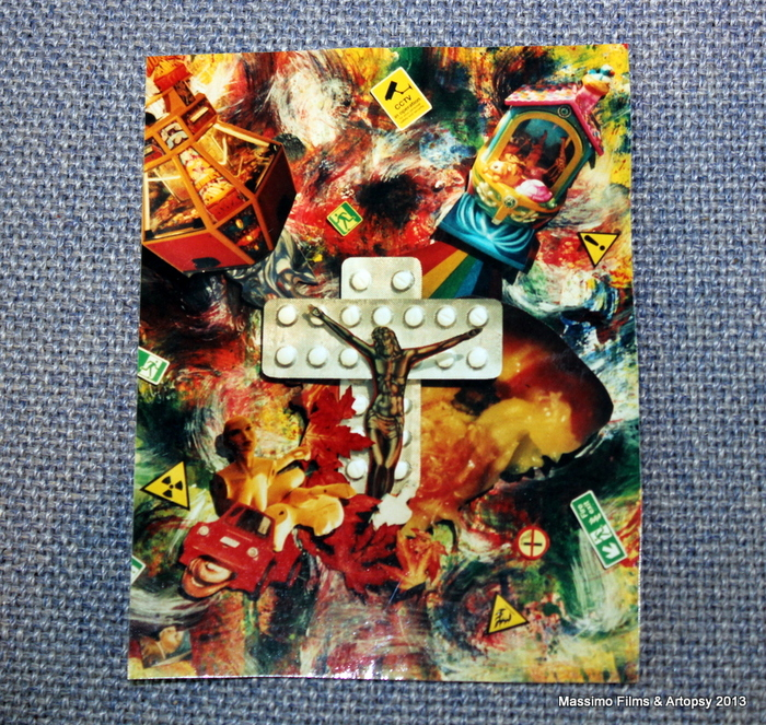 "John McCarthy, ""Crucifixion"", mixed media 41x51cm"