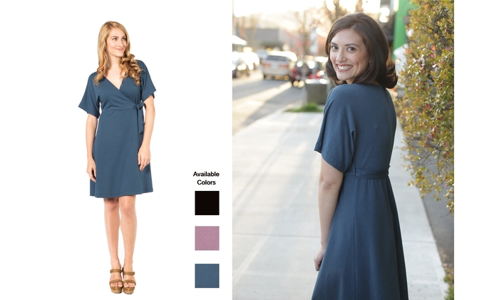 The fun and flirty SUMMERSKIN Wrap Dress. UPF50+.