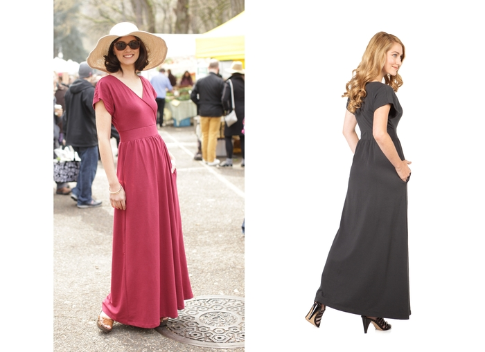 The elegant SUMMERSKIN Kimono Maxi Dress - All we can say is…..beautiful, luxurious and POCKETS! UPF 50+.