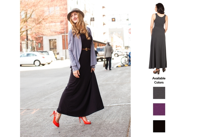 The SUMMERSKIN Maxi Dress. An updated classic. UPF 50+.