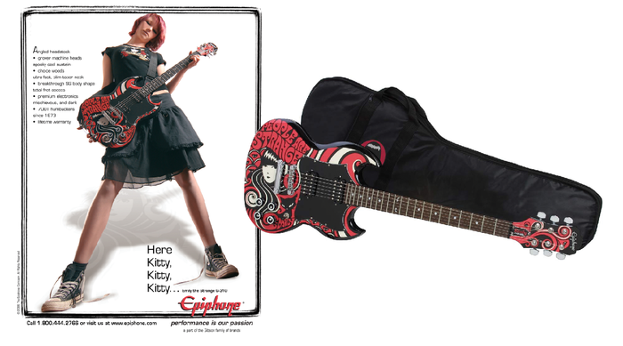 $1,000 REWARD Emily Epiphone SG guitar + gig bag (girl not included)