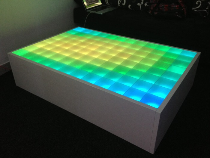 Modules built-in in Coffee Table and software in Matrix mode