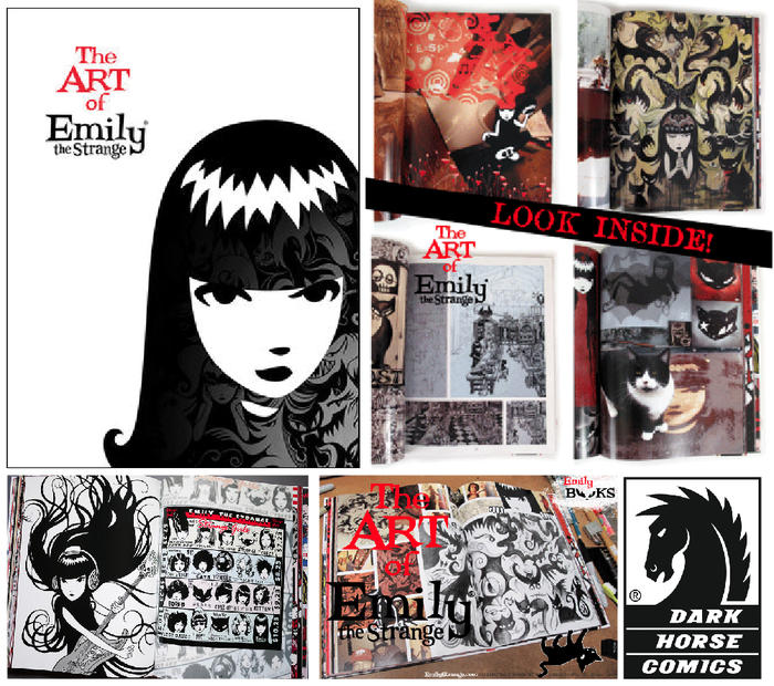 $300 REWARD. ART of EMILY the Strange BOOK... If you don't have this, and you like the art of Emily the Strange, this will blow your mind!