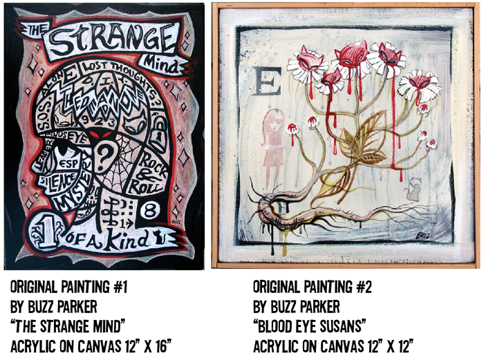 $750 REWARD #1 (from the FREAK OUT series) , $750 REWARD #2 (from the GARDEN OF STRANGE series)