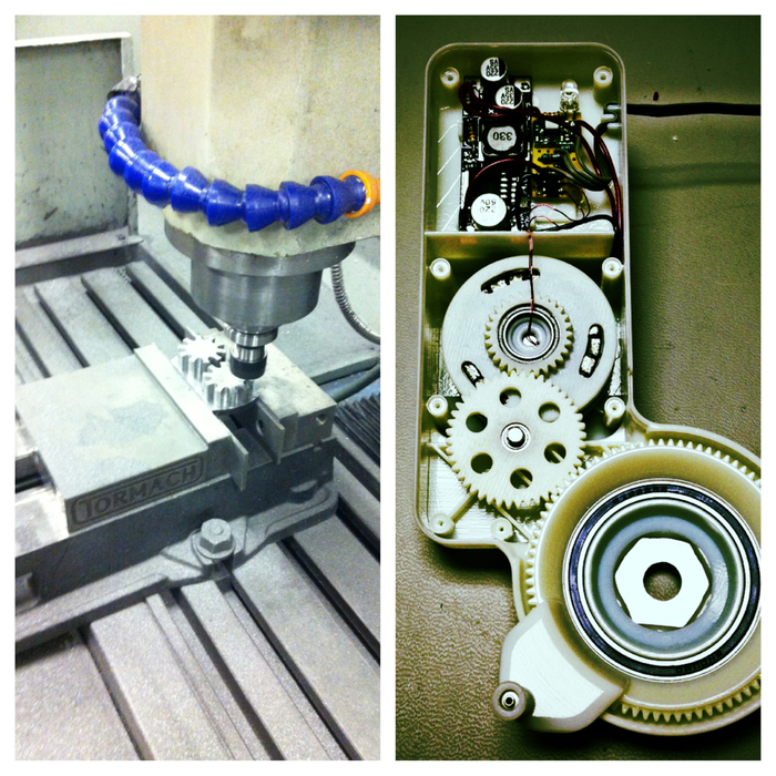 Left - Machining generator parts, Right - Inside the Atom