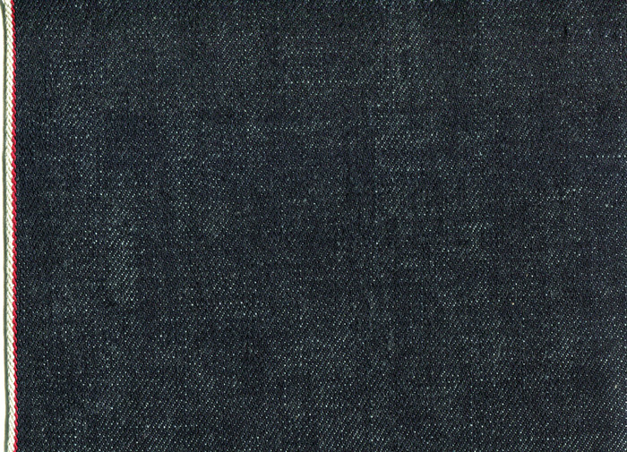 Kuroki Mills/Japan Fabric: 13.5oz Indigo Shade Selvage iD: Red