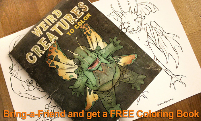 "Bring-a-Friend Reward ""Weird Creatures"""