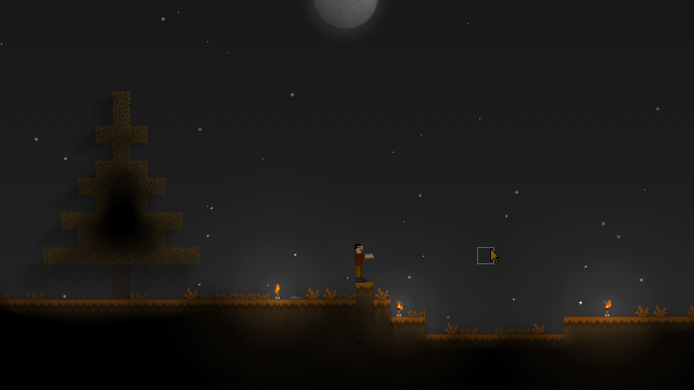 Night time screenshot of Maple Forest biome