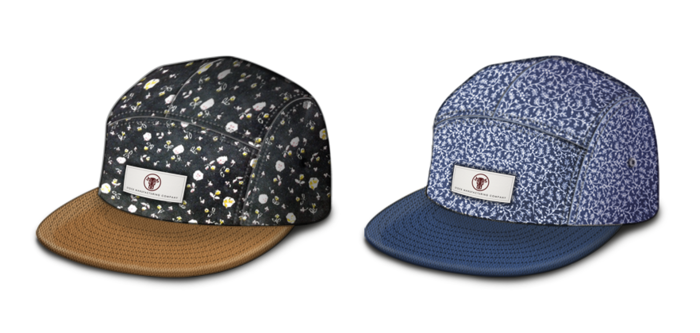 Rendering of the hats with labels sewn on