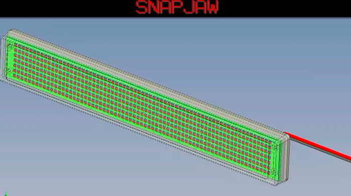 3D CAD image of SNAPJAW assembly