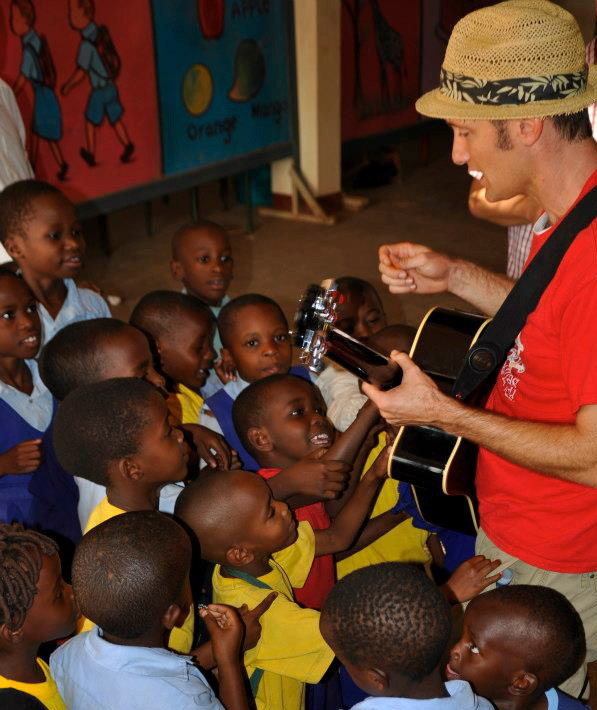 (Randall visiting an African Children's Choir feeder school in Uganda)