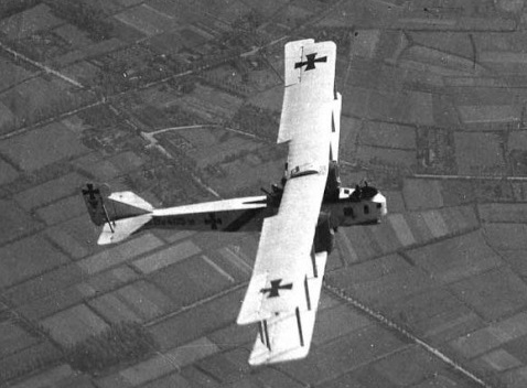 Gotha G.IV, a WWI bomber. (source wikipedia).