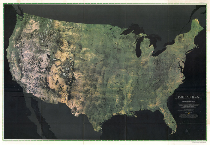 """Portrait U.S.A.: The First Color Photomosaic of the 48 Contiguous United State"", National Geographic Magazine, July 1976."