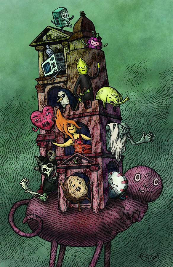 Adventure Time Encyclopaedia illustration by Mahendra Singh