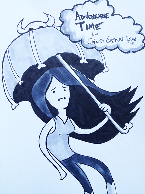 This is an Adventure Time sketch. Hold on to your umbrellas...