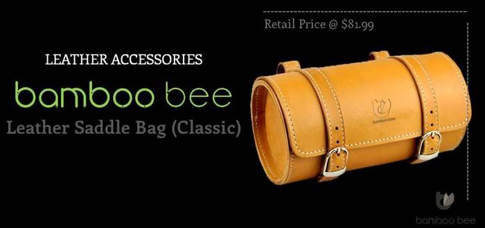Bamboobee Classic Leather Saddle Bag