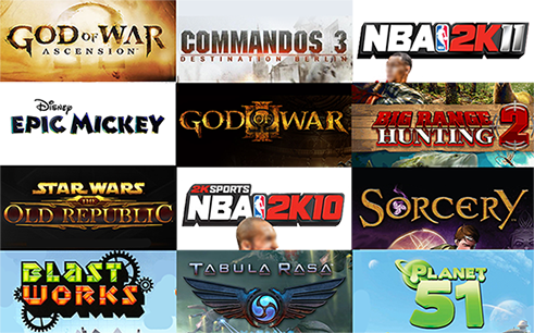 Some of the games that our team members have worked on