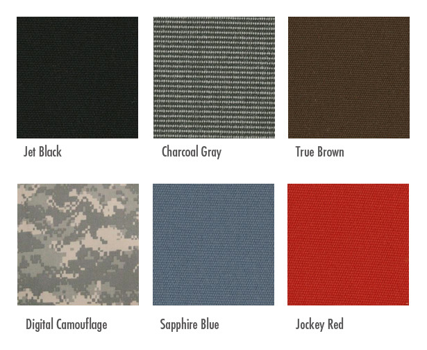 Tool Roll Color Choices In Sunbrella Marine Grade Material