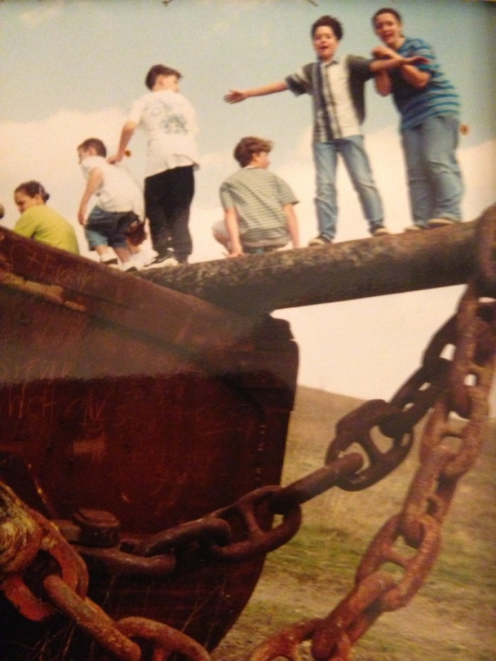 "Derek on a field trip in 6th grade to see ""The world's largest shovel"""