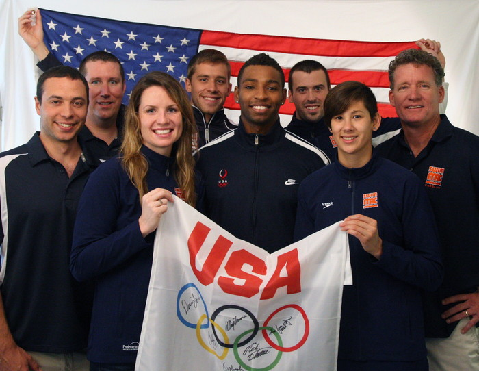David Marsh his and 2012 Olympians and staff