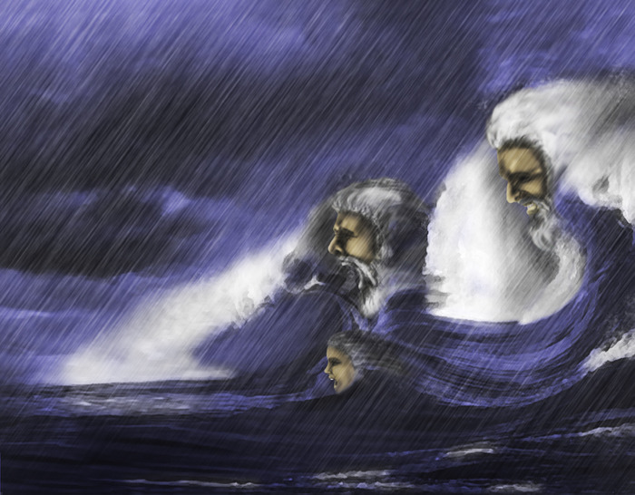 The Flood. Do not anger the gods, lest they turn into water and eat you.