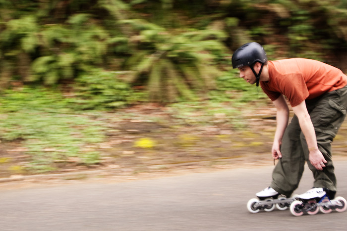 or enjoy a long downhill run on speed skates.