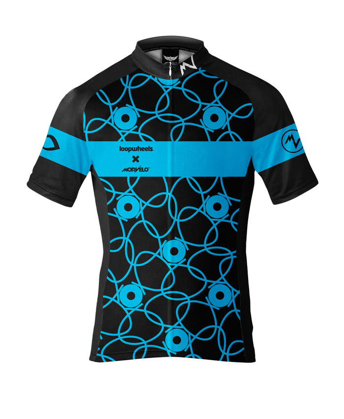 Morvelo's Loopwheels technical cycling jersey - front