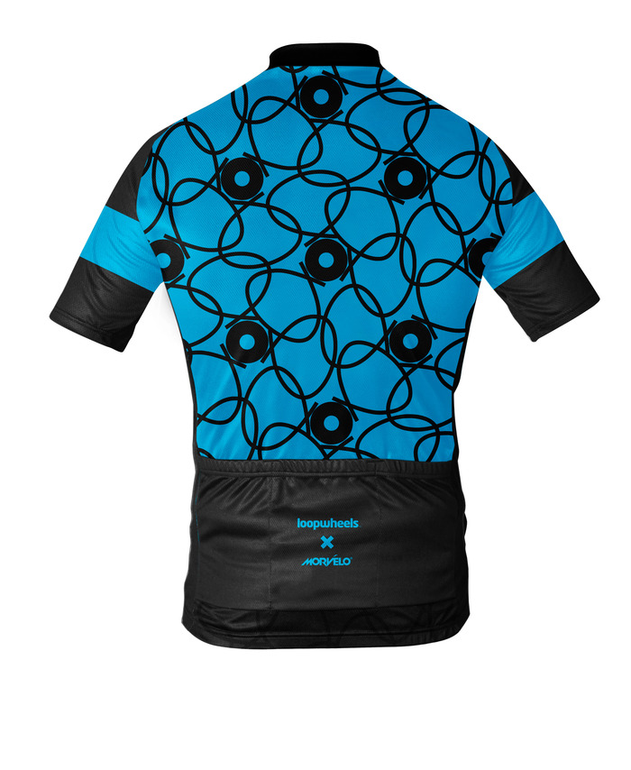 Morvelo's Loopwheels technical cycling jersey - reverse view
