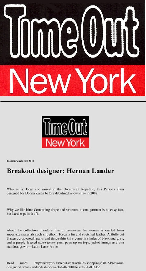 Link: > Hernan at TimeOut Magazine <