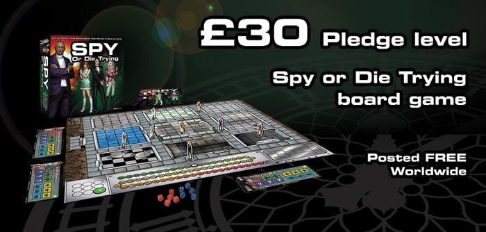 One copy of the Spy or Die Trying board game