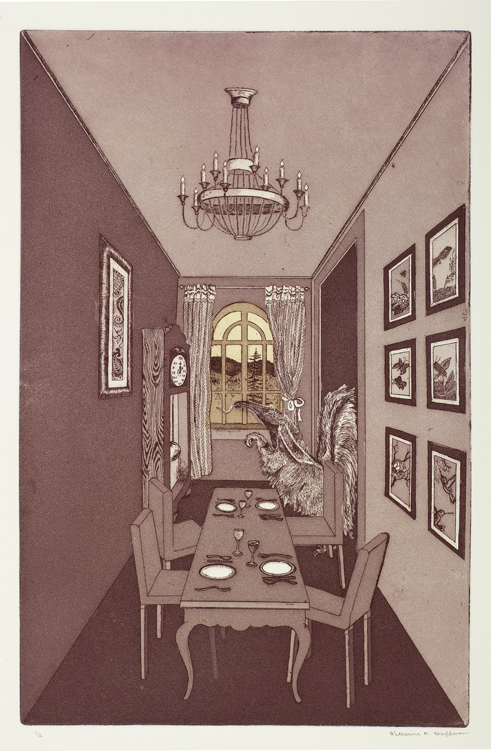 Anteater Dining Room. 9 x 13.75 in.