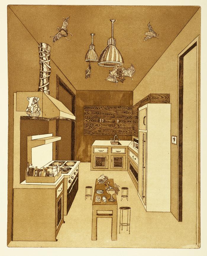 Fruit Bat Kitchen. 11 x 13.75 in.