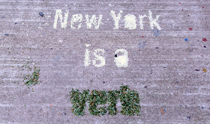 """New York is a Verb"" said by John F. Kennedy Jr."