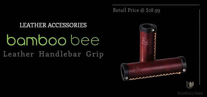 Bamboobee Classic Leather Handlebar Grip
