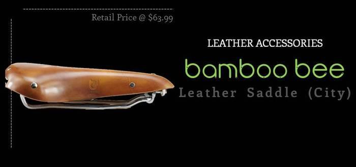 Bamboobee Classic Leather Saddle