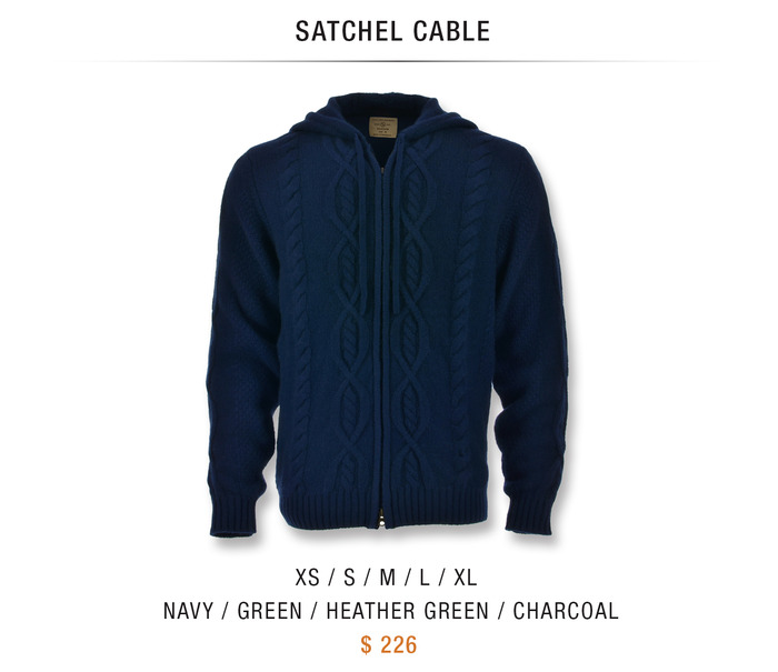 SATCHEL CABLE: $226