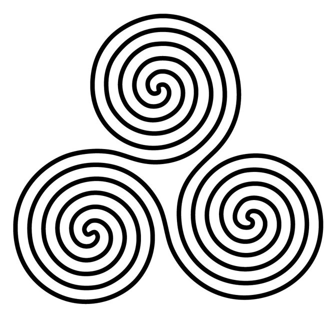 Sacred Geometry --- 3 Circles Set On A Triangle