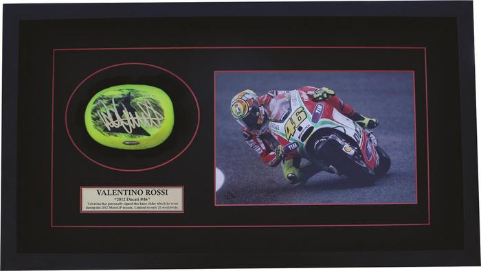 Valentino Rossi Worn Knee Slider Signed